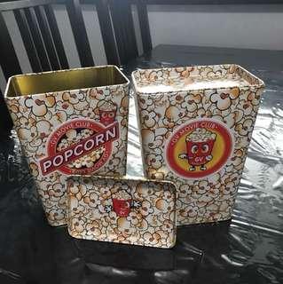 GV popcorn tin/container (x2)
