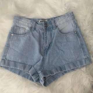 Size 6 denim shorts