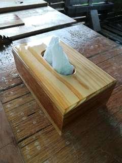 Pine tissue box