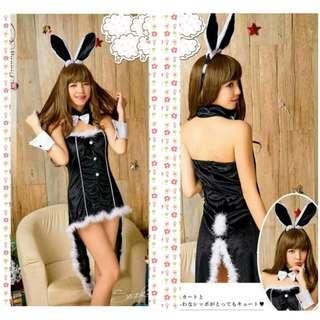 Costume Cecilia Bunny Christmas Lingerie Set -Acc Lengkap