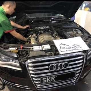 Audi A8L 4.2L CASTROL Titanium Edge Servicing Maintenance Package