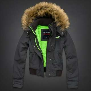 🚚 Hollister All-Weather Hoodie Fleece Lined Jacket 女生 全天候 防風外套