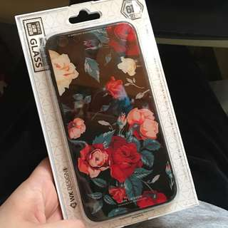 玫瑰花玻璃鋼電話殼 Rose glass phone case/iphone case (iphone 6s plus)