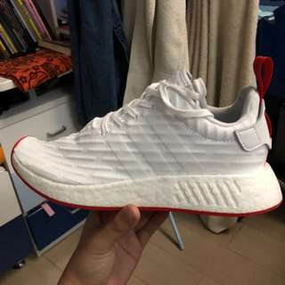 NMD R2 RED WHITE PK 1000% ORIGINAL