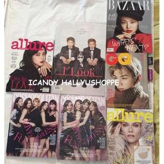KPOP Magazines: Allure, GQ Korea, 1st Look, Cosmopolitan