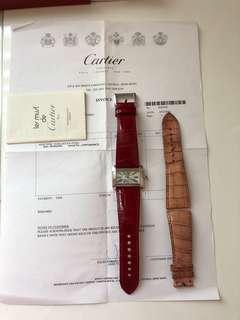 Cartier mini tank Divan Steel