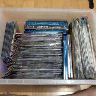 BOX FULL OF MOVIES DVDS