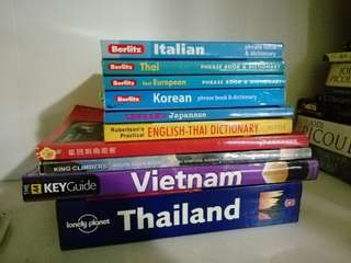 Various travel / language Books
