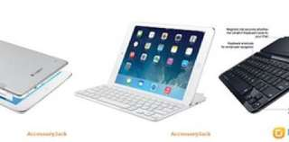 LOGITECH Ultrathin Bluetooth Keyboard Cover for IPad Air/2017 New iPad NEW 全新藍牙鍵盤套