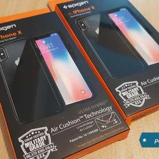 iPhone X 2017 - Spigen Ultra Hybrid Case Matte Black Clear