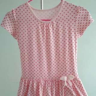 (A3) Kid's Pink Pokka Hearts Dress