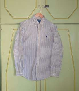 Authentic Ralph Lauren Custom Fit Striped Button Down Shirt