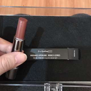 MAC huggable lipcolour - rich marron NEW