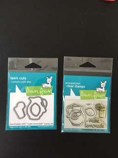 Lawn Fawn Make Lemonade Clear stamps and dies (LF395 & LF905)