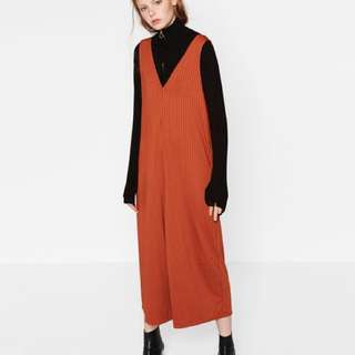 Zara sz medium orange jumpsuit