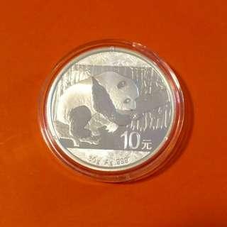 2016年熊貓 銀 幣
