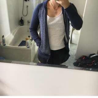 Blue zip up jersey