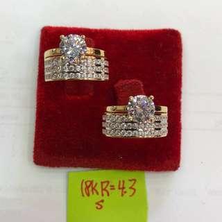 Pawnable!!! 18k ring w/ diamond