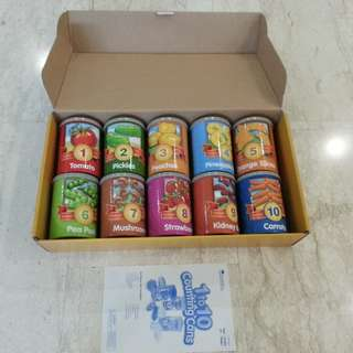 Learning Resources One To Ten Counting Cans Rare