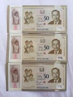 $50 Commemorative Notes