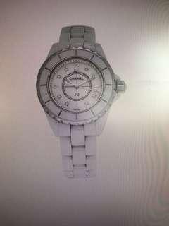 Chanel J12 with diamonds