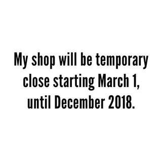 Shop closedown