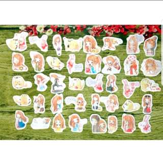 [Instock] Stickers Scrapebook/ Planner Stickers #50 (Girl)