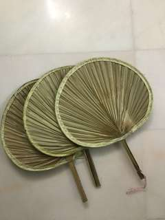 Satay fans for bbq barbeque chalet hand fan