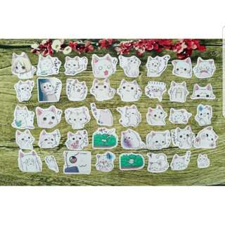 [Instock] Stickers Scrapebook/ Planner Stickers #52 (Cat/ Neko)