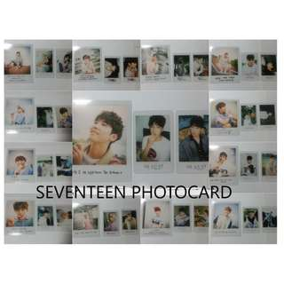ON HAND PHOTOCRAD LOVE&LETTER (Repackage) (Small PC) - (Mingyu, Seungkwan A, Seungkwan B, The8,  (Big PC) - Woozi, (Big PC) - DK)