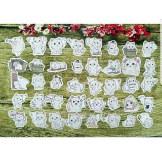 [Instock] Stickers Scrapebook/ Planner Stickers #53 (Cat/ Neko)
