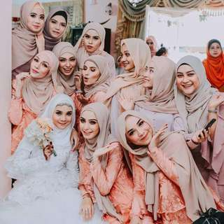Shawl Publika Bride and Bridesmaids 💐