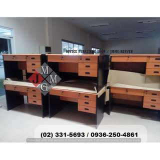 -bullnose edge- working desk.2-tone color (office partition