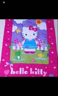 Hello kitty blankets brand new size wt110cm ht 150cm gd quality
