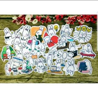 [Instock] Stickers Scrapebook/ Planner Stickers #54 (Rabbit love travel)