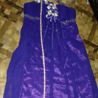 Purple Gown Plus Size Gown for Party Wedding and Events