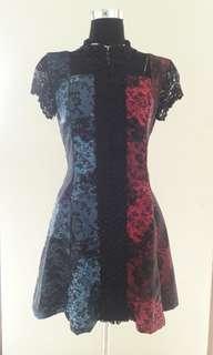 Asymmetric colour dress inspi' by barbie