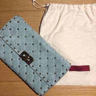 Valentino Shoulder bag suede bag light blue