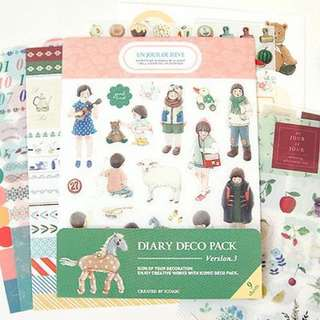 Iconic deco sticker pack version 3, 9 sheets, bujo stickers