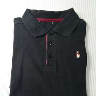 Hush puppies black polo shirt