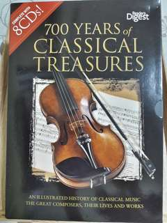 700 yrs. of classical treasures (a set of 8 CDs)