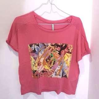 Stradivarius Pink Tshirt