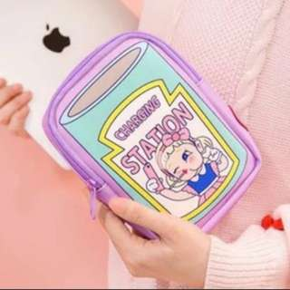 Bentoy Cute Kawaii Charging Station Travel Accessory Bag Pouch Instock Free Postage