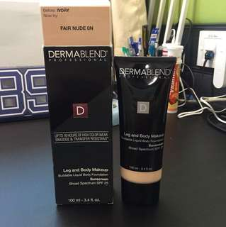Dermablend Leg and Body Makeup foundation FAIR NUDE 0N