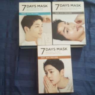 FORENCOS Song Joong-ki 7days mask (WED, SAT & SUN)