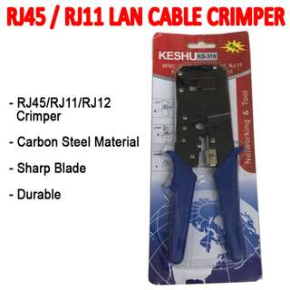 TCP009 Network Crimper Tools for RJ45 RJ11 RJ12 8P8C 6P6C