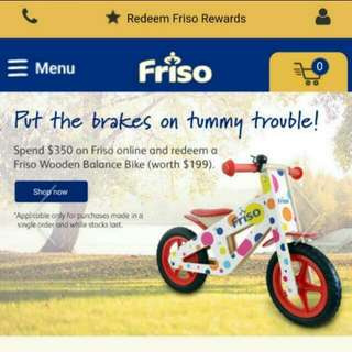 Friso Wooden Balance Bicycle (Brand New In Box)