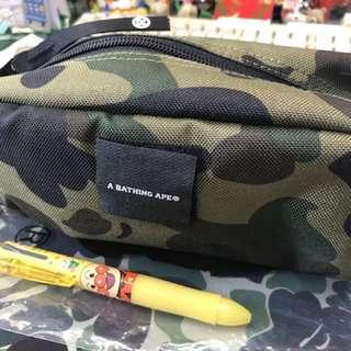 Bape迷彩防水面 雜物袋 筆袋 化妝袋