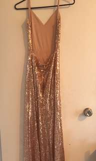 Champagne Pink sparkly Ball dress