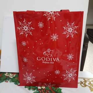 Godiva shopping bag